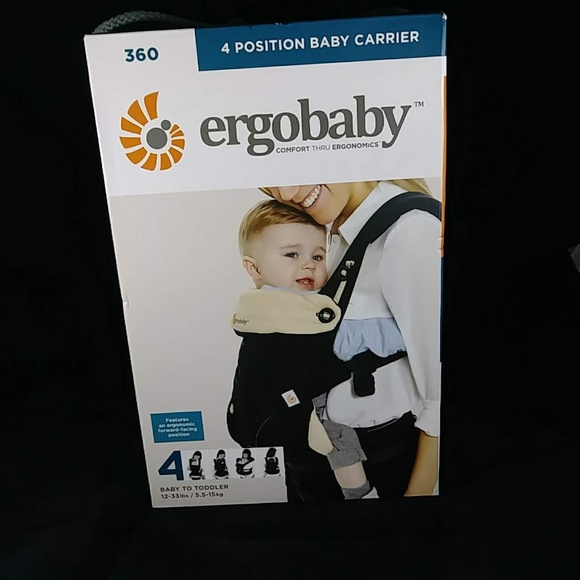 cd9df4e3242 ERGOBABY 360 Black Camel 4 Position Baby Carrier